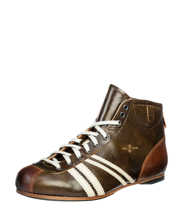 ZEHA BERLIN Carl Häßner Derby cow leather, flank Unisex dark green / cream / cognac