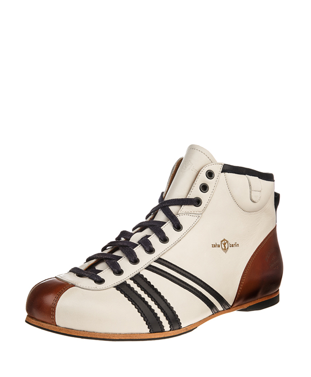 ZEHA BERLIN Carl Häßner Derby calf leather Unisex cream / blue / cognac