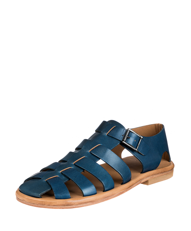 ZEHA BERLIN Urban Classics Men Sandals cow hide leather Men blue