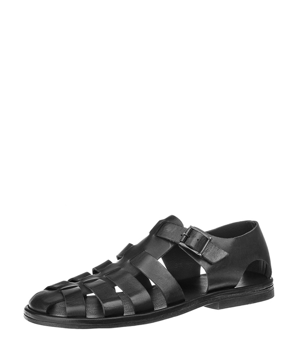 ZEHA BERLIN Urban Classics Men Sandals cow hide leather Men black