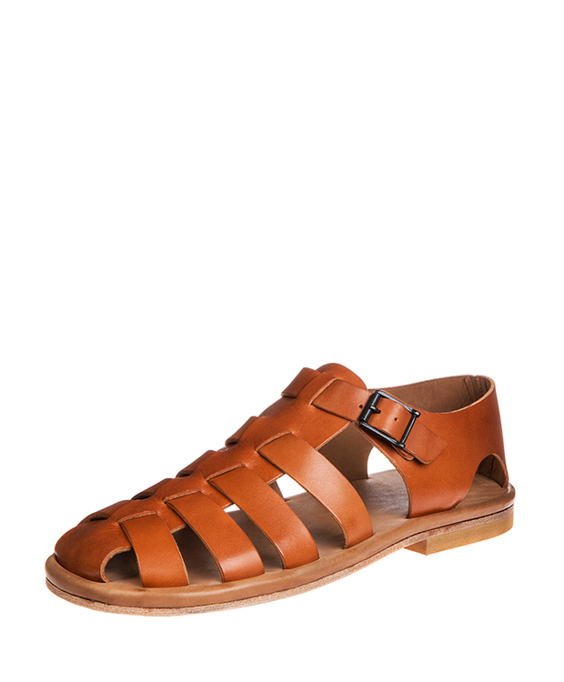 ZEHA BERLIN Sandals Cow hide leather Men cognac