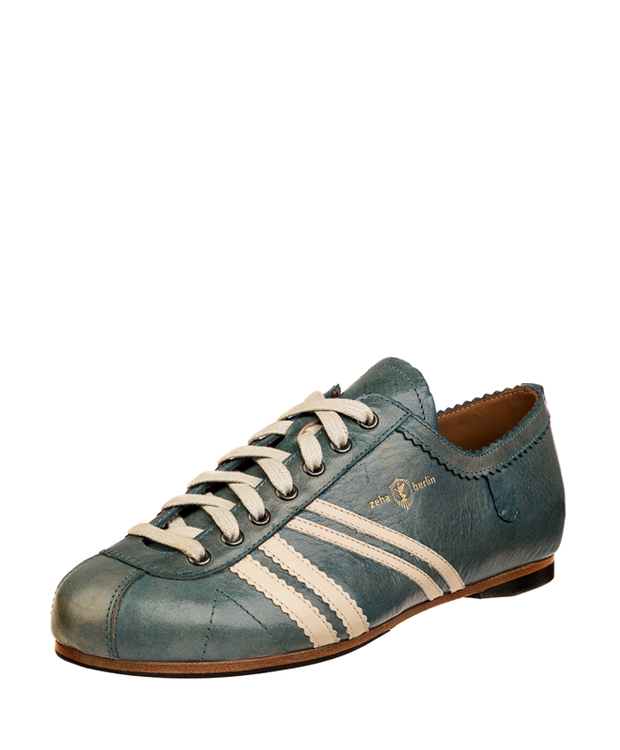 ZEHA BERLIN Carl Häßner Club cow leather, flank Unisex aquamarine / cream