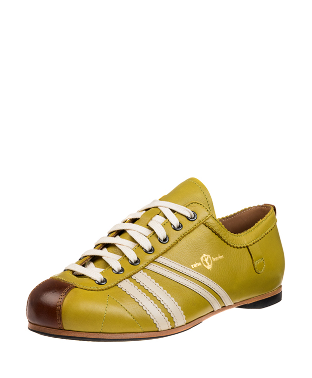 ZEHA BERLIN Carl Häßner Club calf leather Unisex light green / cream / cognac