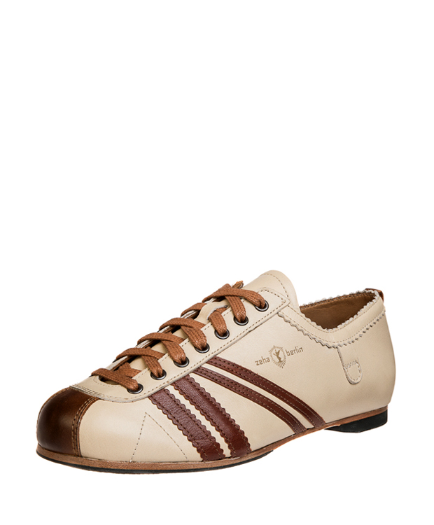 ZEHA BERLIN Carl Häßner Club calf leather Unisex cream / maroon / cognac