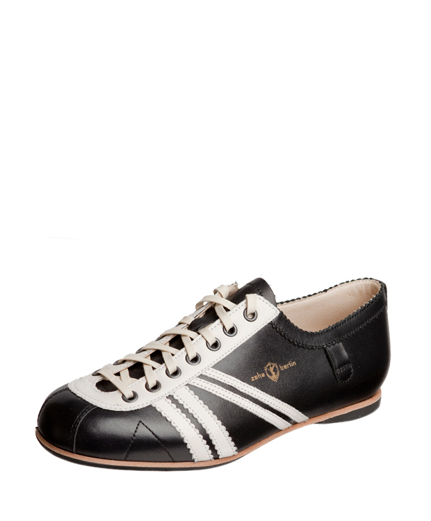 ZEHA BERLIN Carl Häßner Club calf leather Unisex black / creamwhite