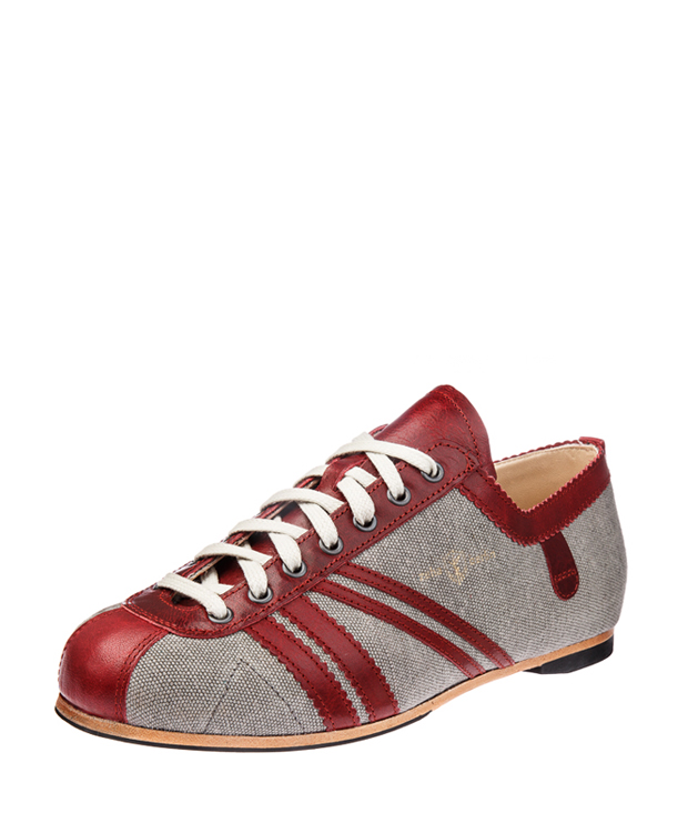 ZEHA BERLIN Carl Häßner Club Canvas Unisex grau / bordeaux