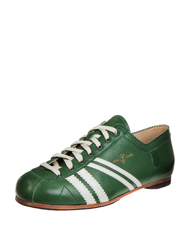 ZEHA BERLIN Carl Häßner Club calf leather Unisex green / cream