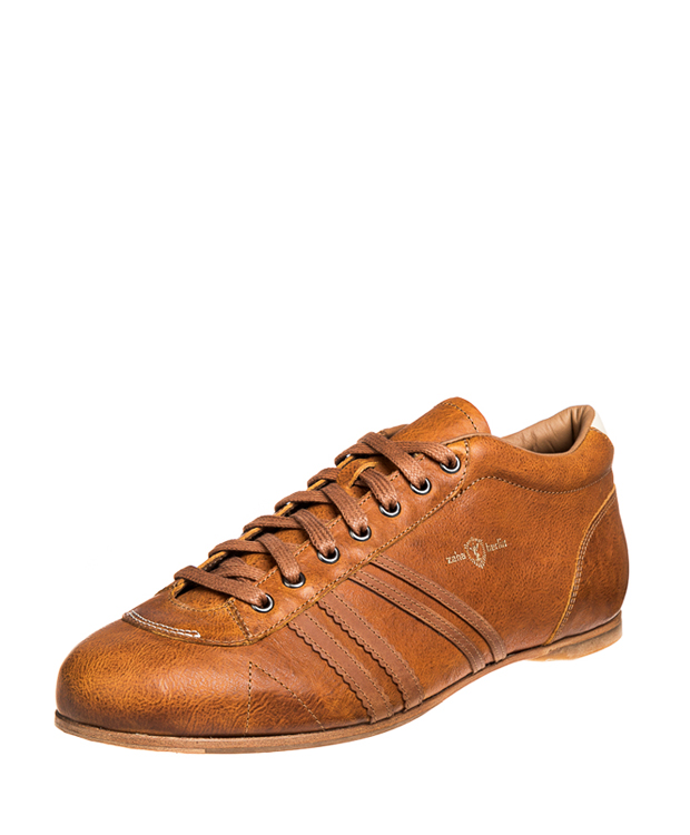 ZEHA BERLIN Carl Häßner Finalist calf leather Unisex dark yellow / cognac