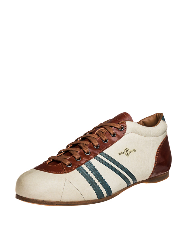 ZEHA BERLIN Carl Häßner Finalist camel leather Unisex cream / aquamarine /  light brown