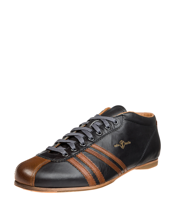 ZEHA BERLIN Carl Häßner Liverpool calf leather Unisex grey / cognac
