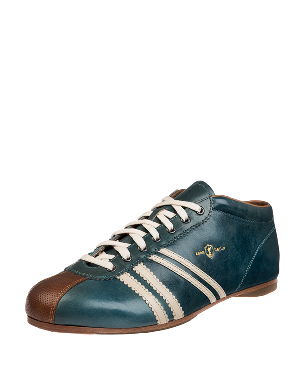 ZEHA BERLIN Carl Häßner Liverpool cow leather, flank Unisex aquamarine / cream / cognac