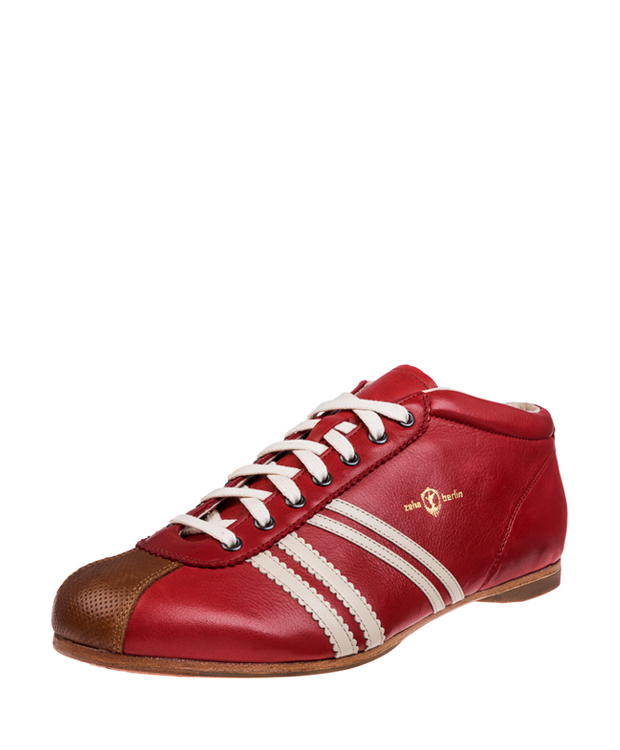 ZEHA BERLIN Carl Häßner Liverpool calf leather Unisex red / cream / cognac