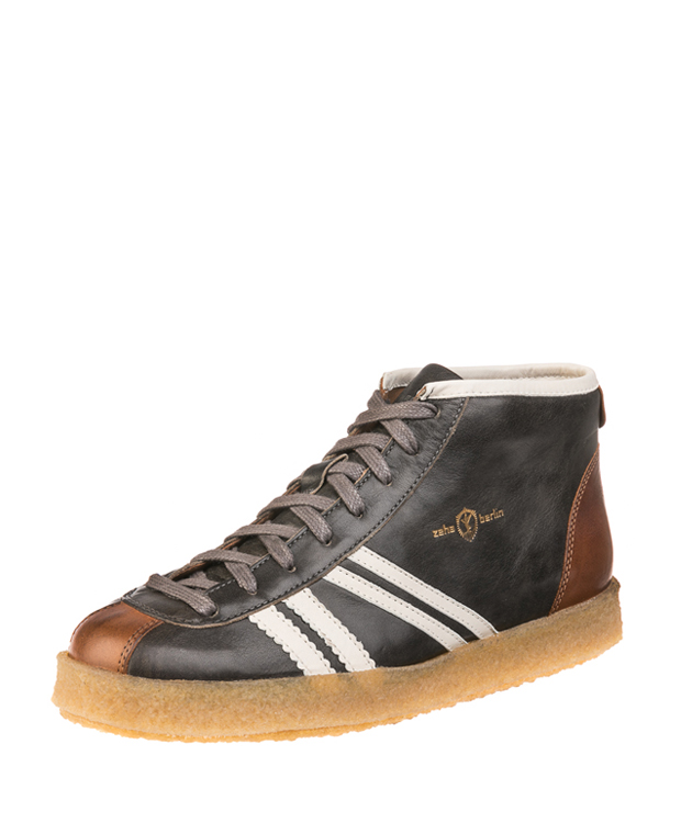ZEHA BERLIN Trainer Trainer high calf leather Unisex grey / cream / cognac