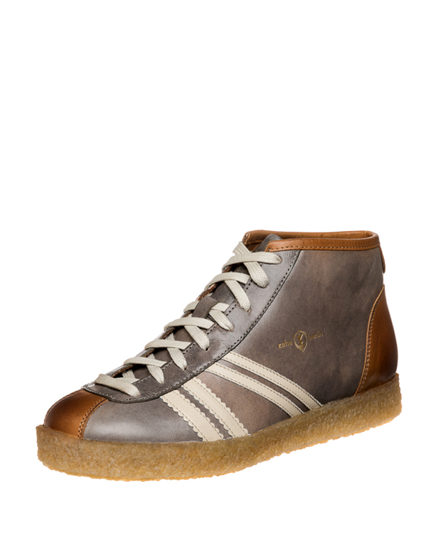 ZEHA BERLIN Trainer Trainer high cow leather, flank Unisex light grey / cream / cognac