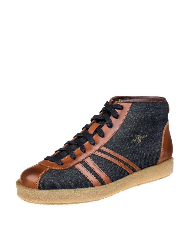 ZEHA BERLIN Trainer Trainer high Denim Unisex jeansblau / cognac