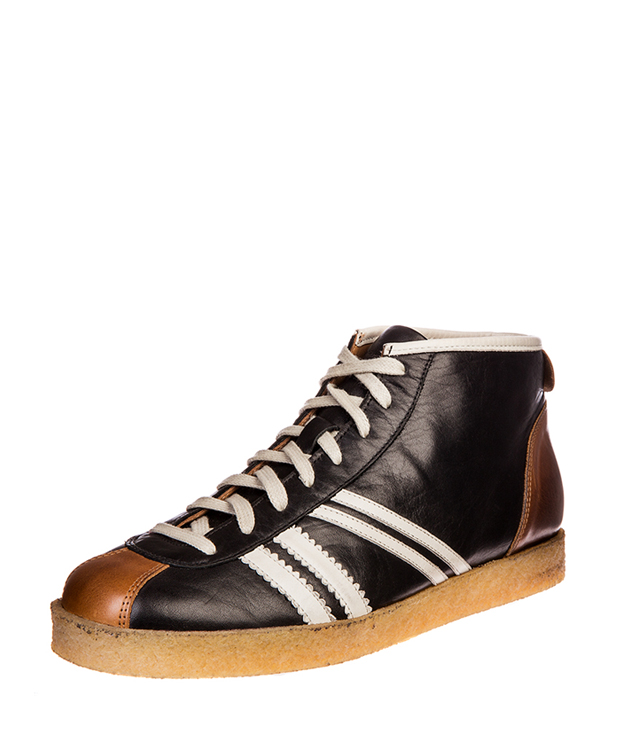 ZEHA BERLIN Trainer Trainer high calf leather Unisex black / cream / cognac