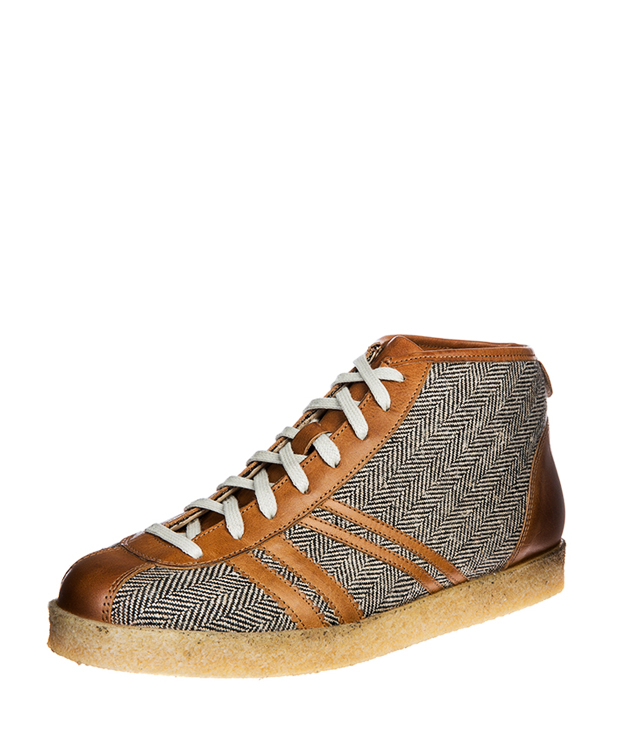 ZEHA BERLIN Trainer Trainer high Mixed fabric Unisex brown / cream / cognac