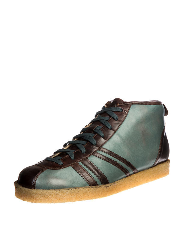ZEHA BERLIN Trainer Trainer high calf leather Unisex grey-blue / brown