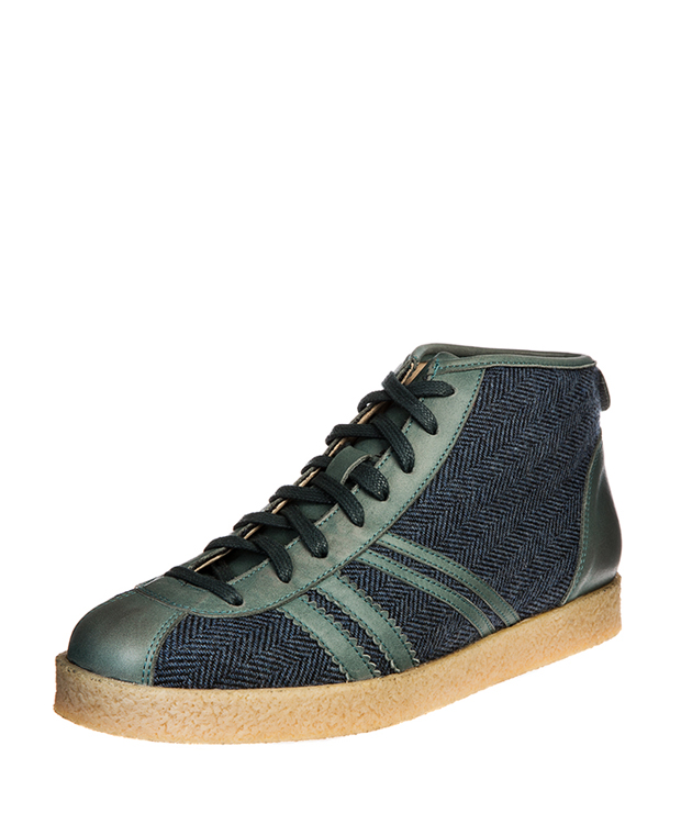 ZEHA BERLIN Trainer Trainer high Mixed fabric Unisex dark blue / light blue / grey-blue