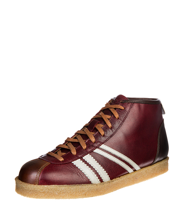 ZEHA BERLIN Trainer Trainer high buffalo leather Unisex bordeaux / cream / cognac
