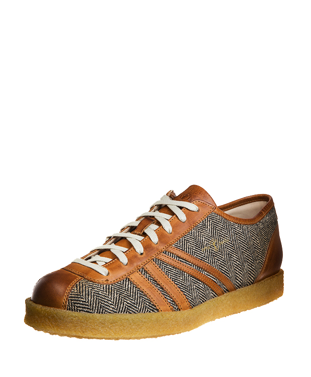ZEHA BERLIN Trainer Trainer low Mixed fabric Unisex brown / cream / cognac