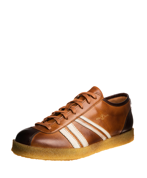 ZEHA BERLIN Trainer Trainer low cow hide leather Unisex cognac / cream / brown