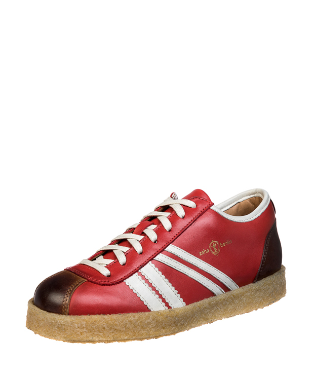 ZEHA BERLIN Trainer Trainer low calf leather Unisex red / cream / brown