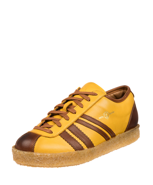 ZEHA BERLIN Trainer Trainer low calf leather Unisex yellow / cognac / cognac