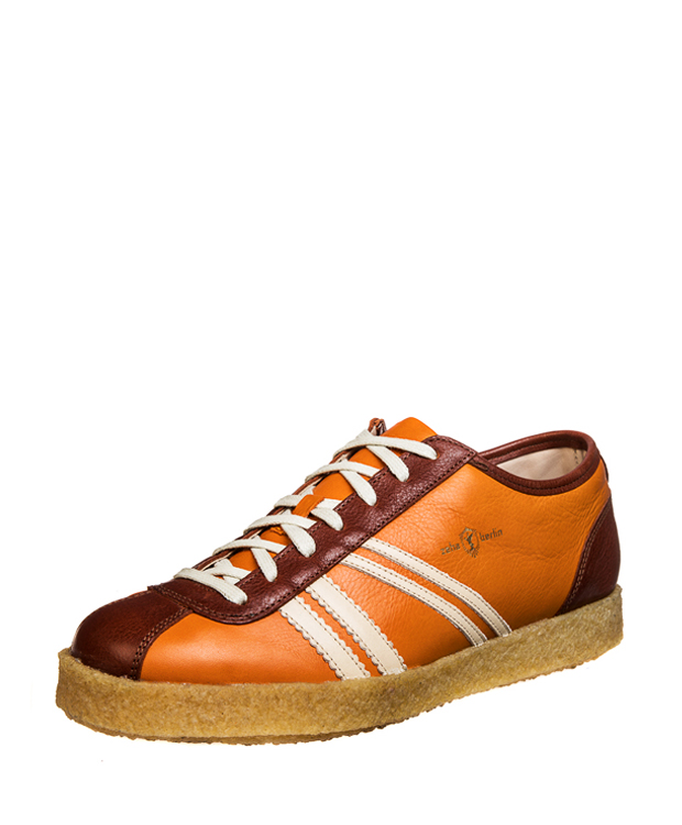 ZEHA BERLIN Trainer Trainer low calf leather Unisex orange / cream / red brown