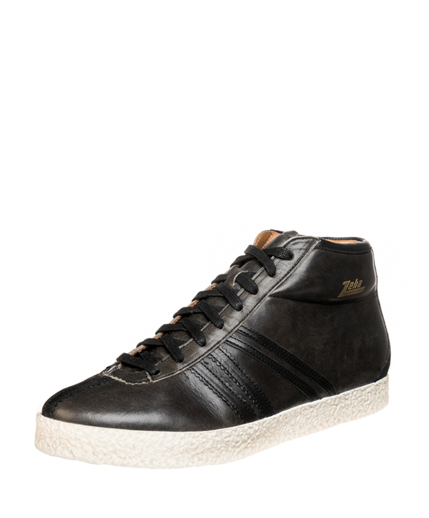 ZEHA BERLIN Streetwear Rodler calf leather Unisex dark grey / black