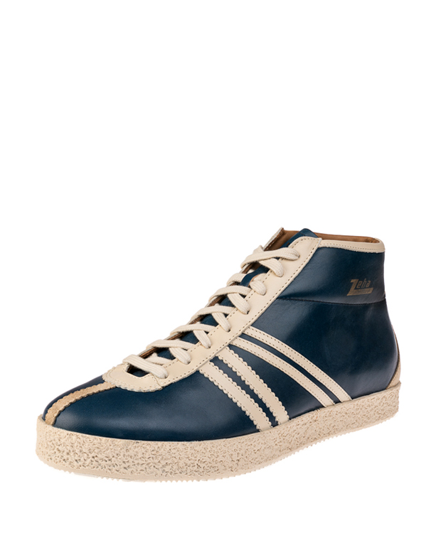 ZEHA BERLIN Streetwear Rodler calf leather Unisex Blue/ cream / beige