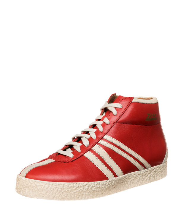 ZEHA BERLIN Streetwear Rodler Calf leather Unisex red / cream / beige