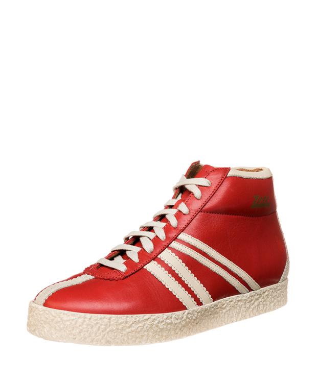 ZEHA BERLIN Streetwear Rodler Kalbsleder Unisex rot / cremeweiß / beige
