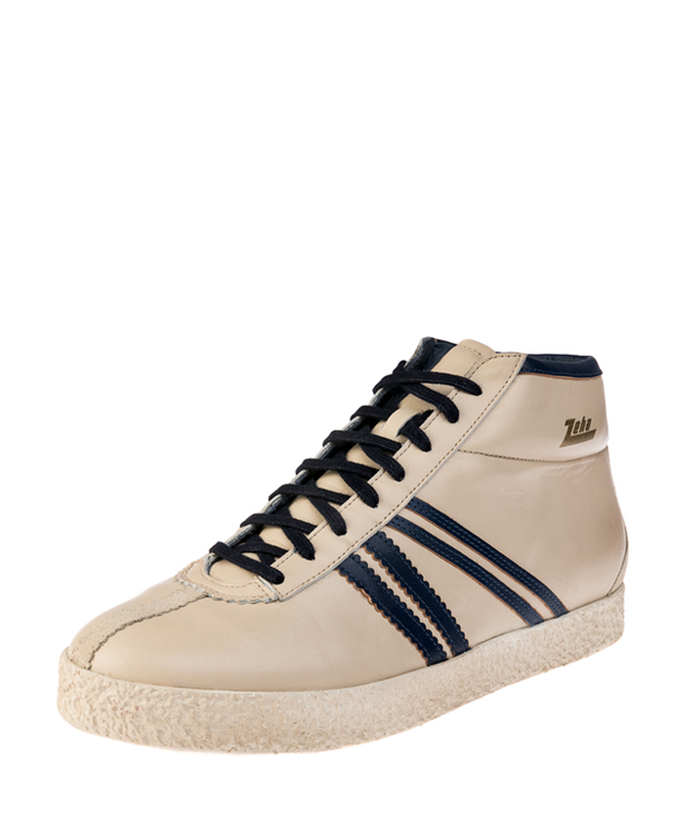 ZEHA BERLIN Streetwear Rodler Calf leather Unisex cream / blue / beige