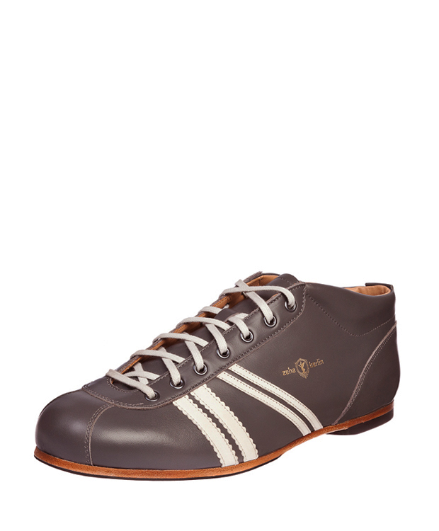 ZEHA BERLIN Carl Häßner Liga calf leather Unisex grey brown / cream