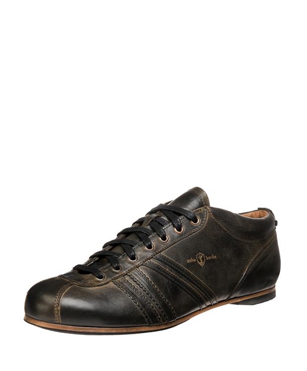 ZEHA BERLIN Carl Häßner Liga calf leather Unisex black waxed