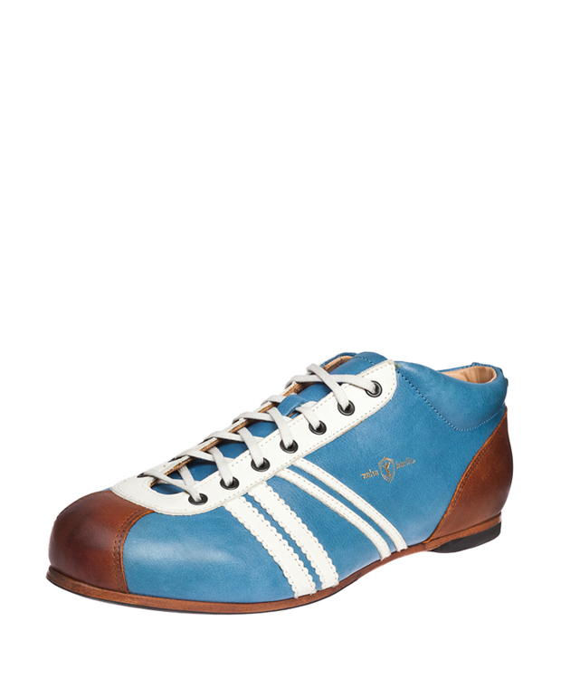 ZEHA BERLIN Carl Häßner Liga calf leather Unisex light blue / cream / cognac