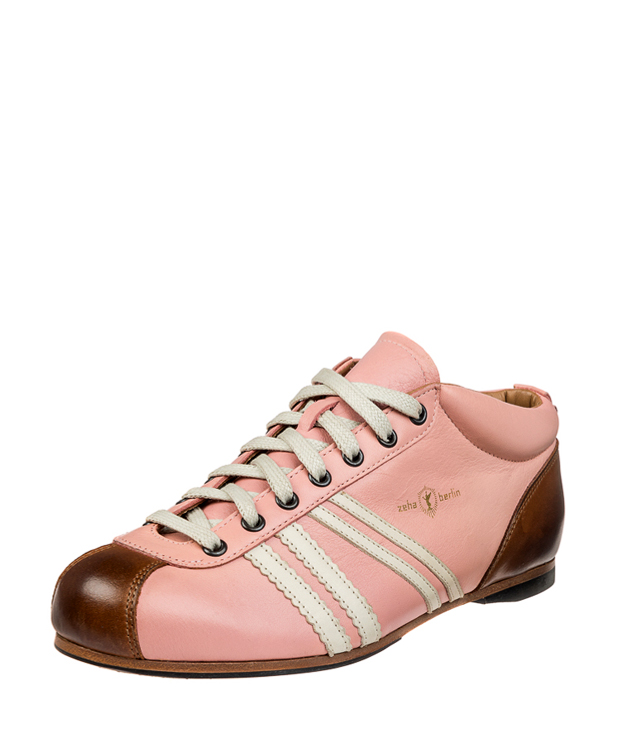 ZEHA BERLIN Carl Häßner Liga calf leather Unisex old rose / cream / cognac