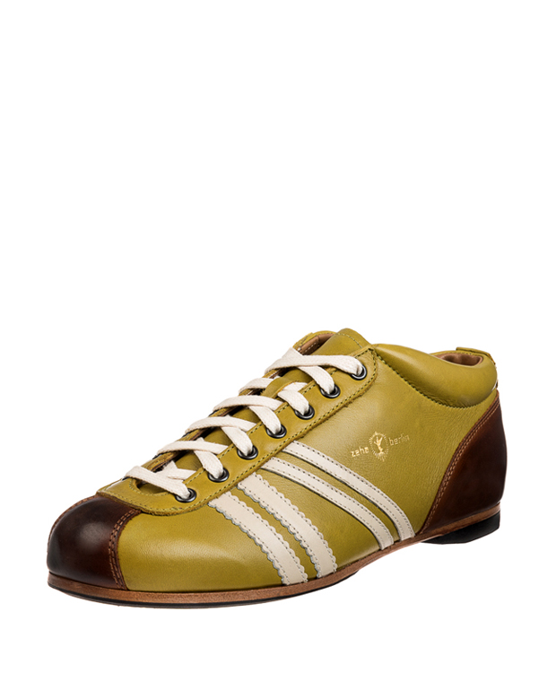 ZEHA BERLIN Carl Häßner Liga calf leather Unisex light green / cream / cognac