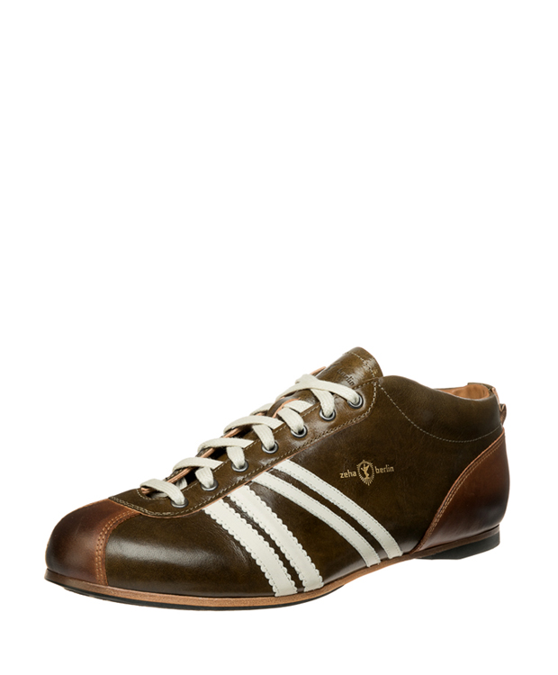 ZEHA BERLIN Carl Häßner Liga cow leather, flank Unisex dark green / cream / cognac