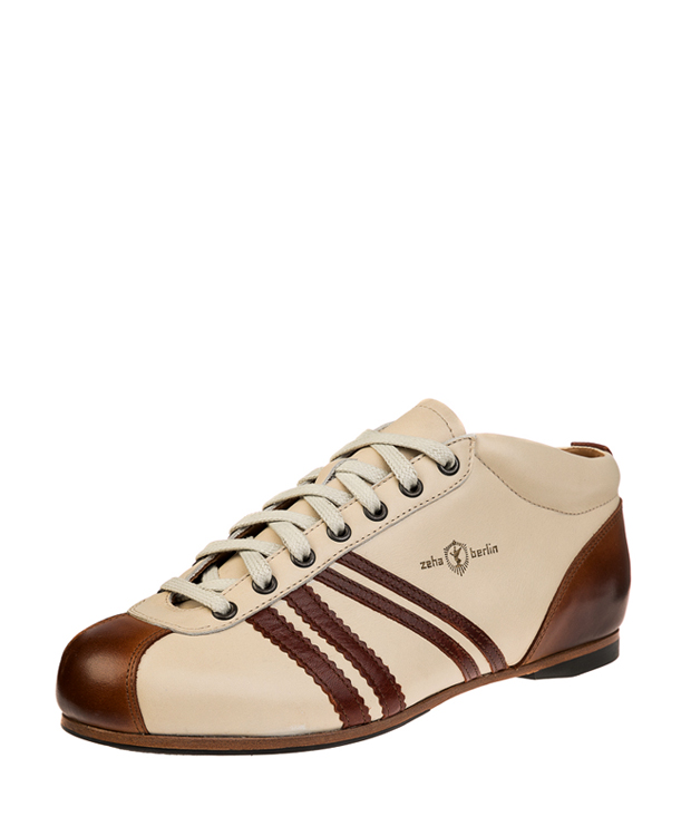 ZEHA BERLIN Carl Häßner Liga calf leather Unisex cream / maroon / cognac