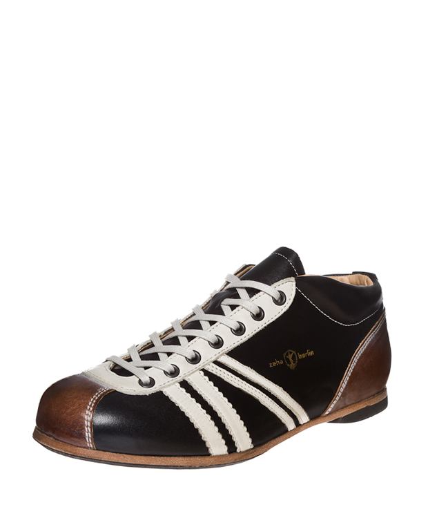 ZEHA BERLIN Carl Häßner Liga calf leather Unisex black / cream / cognac