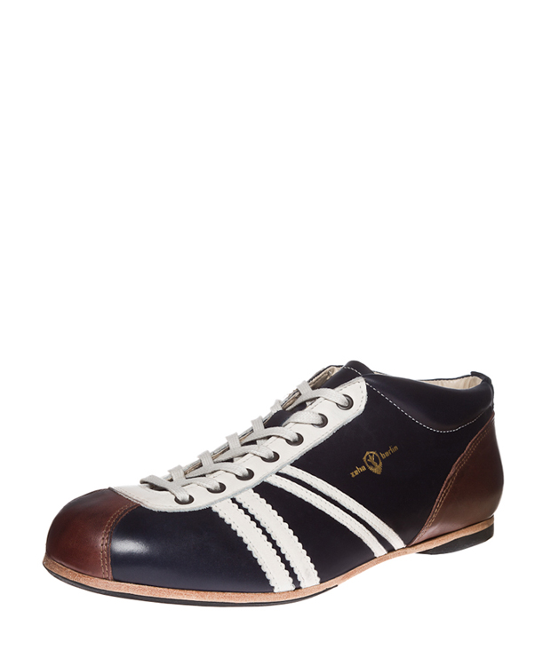 ZEHA BERLIN Carl Häßner Liga calf leather Unisex dark blue / cream / brown