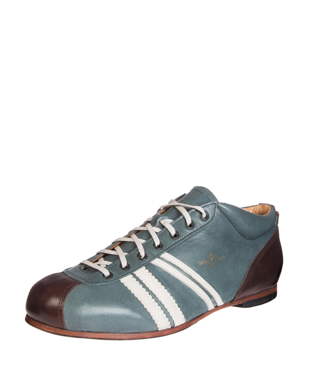 ZEHA BERLIN Carl Häßner Liga calf leather Unisex grey blue / cream / brown