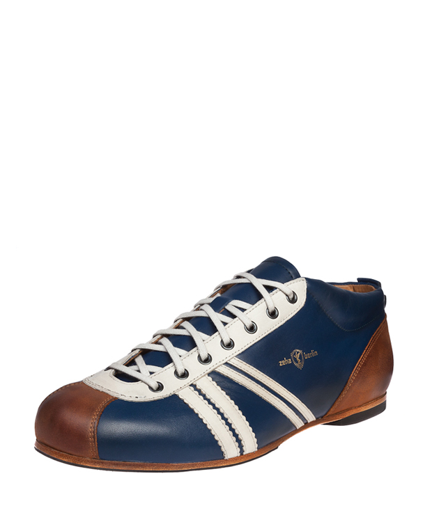ZEHA BERLIN Carl Häßner Liga calf leather Unisex medium blue / cream / cognac