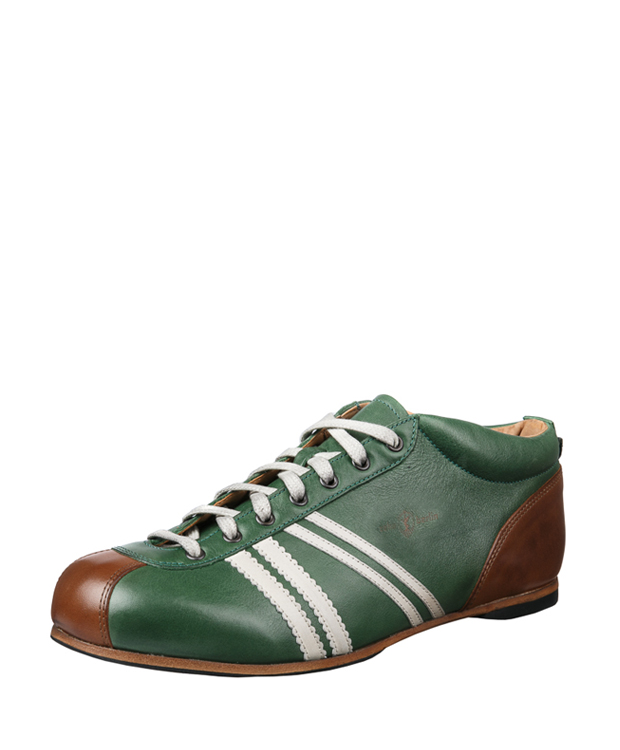 ZEHA BERLIN Carl Häßner Liga calf leather Unisex green / white / cognac