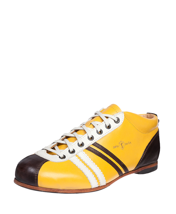 ZEHA BERLIN Carl Häßner Liga calf leather Unisex yellow / cream / brown