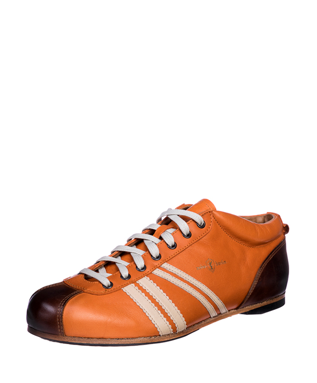 ZEHA BERLIN Carl Häßner Liga calf leather Unisex orange  / cream / cognac