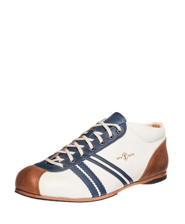ZEHA BERLIN Carl Häßner Liga calf leather Unisex cream / blue / cognac