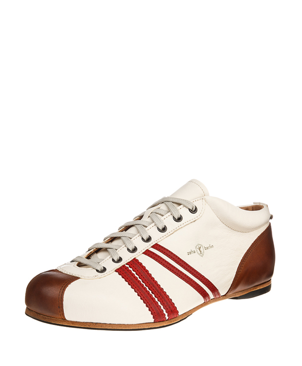 ZEHA BERLIN Carl Häßner Liga calf leather Unisex cream / red / cognac